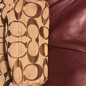 Coach Bags - Cream and brown colored Coach bag